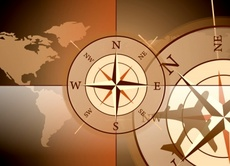 Compass Rose Vector - Travel Background