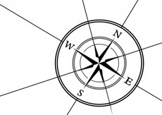 Simple Compass Rose Free Vector