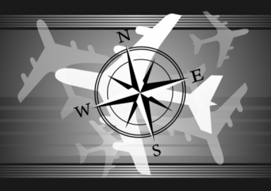 Airplanes Navigation Vector Graphic