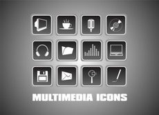 Free Multimedia Vector Icons