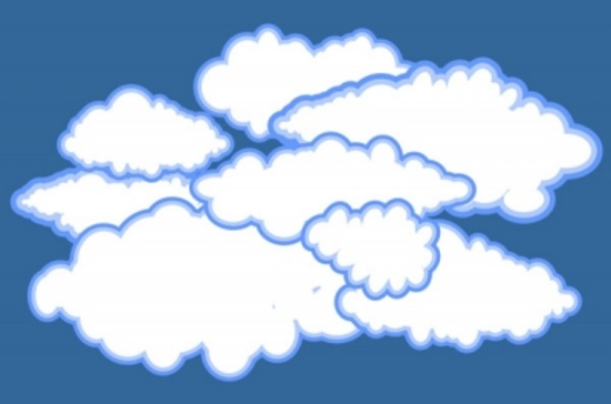 Cartoon Style Vector Clouds