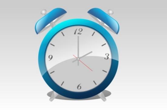 Blue Alarm Clock Vector Design