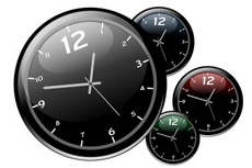 Cool Glassy Body Vector Wall Clocks