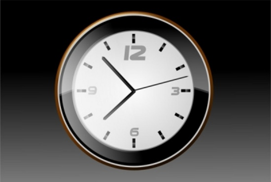 Free Black  Body Wall Clock