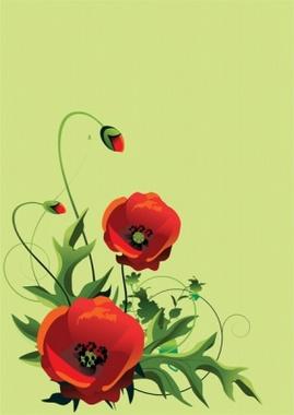 Red Poppy Vector Flowers