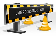 3D Vector Road Construction Signs