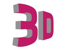 Pink 3D Vector Word