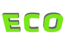 Green Eco Word Free Vector