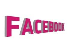 Pink Facebook 3D Vector