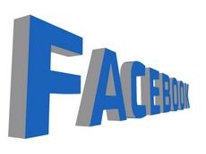 Blue Facebook 3D Vector