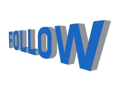 Follow 3D Vector Word