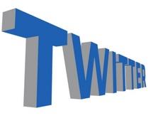 Twitter Free Vector 3D Text