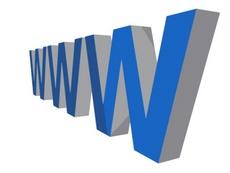 Blue 3D WWW Vector Text