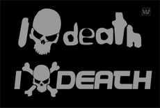 I Love Death Skull Vector Theme