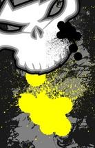 Alien Skull Grunge Design