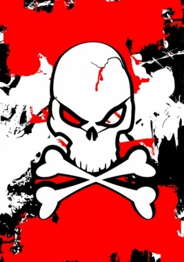 Angry Skull Vector Design