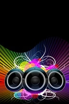 Colorful DJ Background