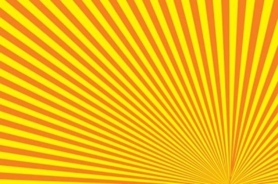 Orange Rays Background