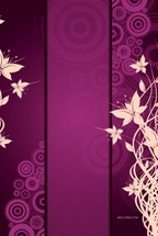 Violet Floral Vector Background