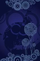 Cool Dark Blue Vector Art