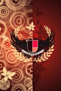 Cool Crest Vector Art