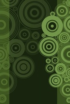 Vector Background Green Circles