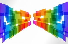 Colorful Blocks Wall Vector