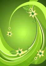 Green Spring Floral Background