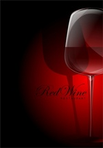 Glass of Wine Vector Art