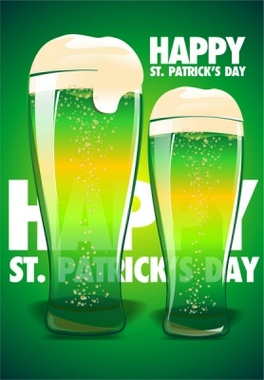 Green Irish Beer Vector