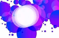 Abstract Violet Bubbles