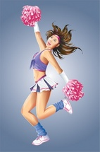 Dancing Cheerleader Vector