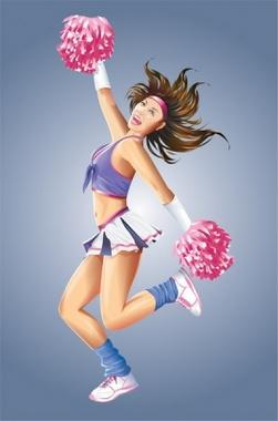 Dancing Cheerleader Vector