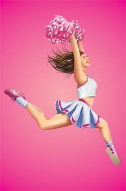 Cheerleading Girl Vector