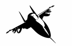 Free Silhouette Jet Fighter