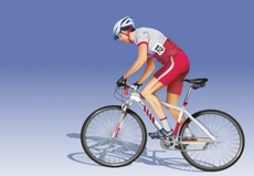 Detailed Riding Biker