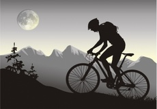 Night Bike Vector Rider