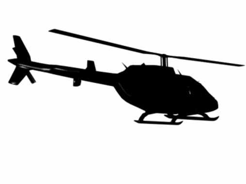 Vector Helicopter Silhouette