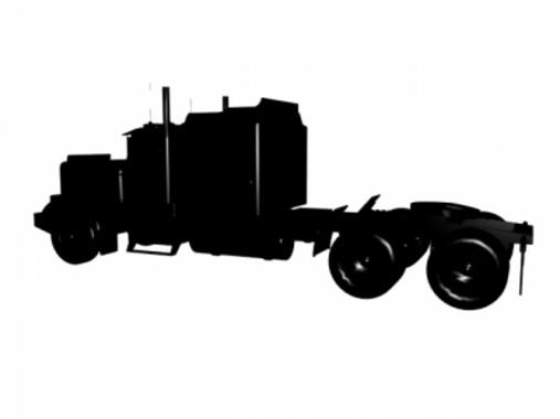Vector Truck Profile Silhouette