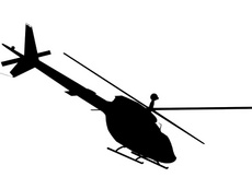 Black Helicopter Vector
