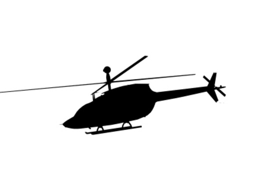 Flying Helicopter Free Vector