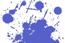 Blue Paint Splash Vector