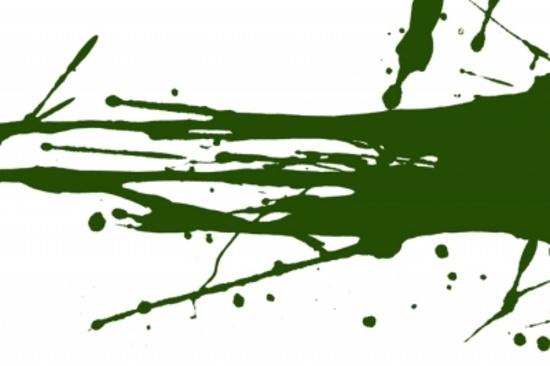 Dark Green Vector Splash
