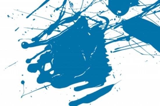 Free Blue Paint Splash