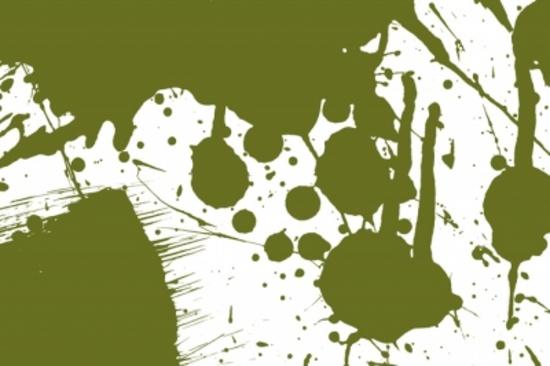 Green Vector Paint Splash