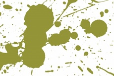 Green Ink Vector Splash