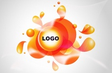 Blobs and Logo Spot Vector