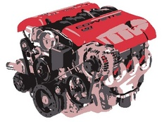 Car Engine Free Vector