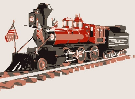 Old Style Vector Train