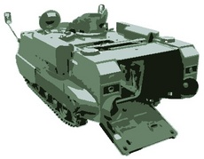 Militaty machine. Tank